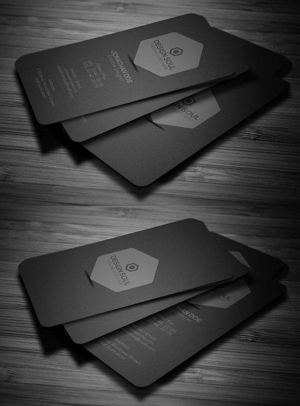 Minimal Dark Business Card