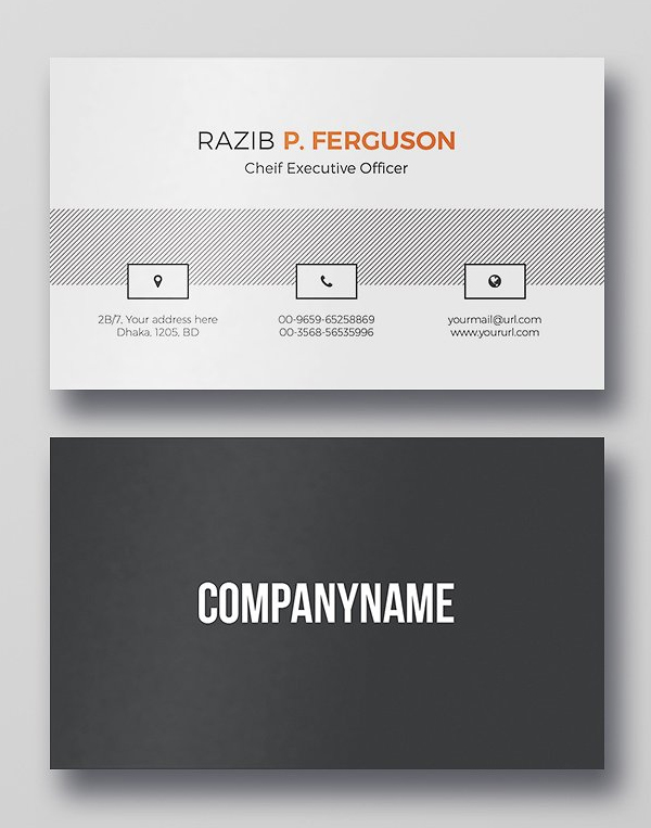Clean Business Card PSD Template