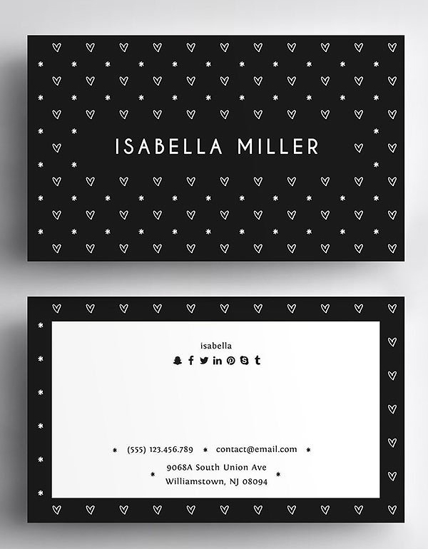 Love Business Card Template