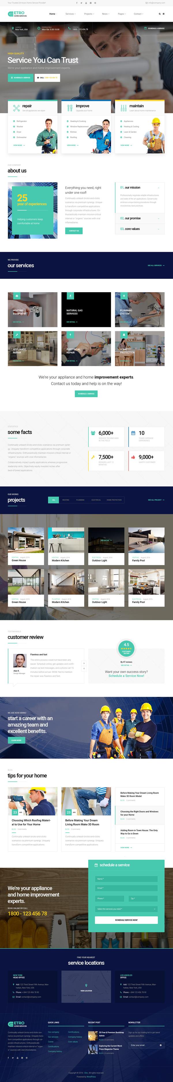 Etro - Home Maintenance, Repair and Improvement Services WordPress Theme