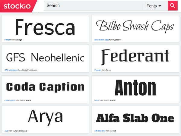Stockio Fonts