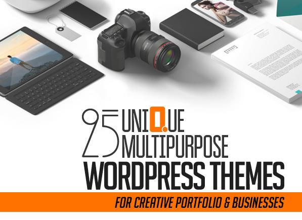25 Unique Multipurpose WordPress Themes For Creative Portfolio & Businesses