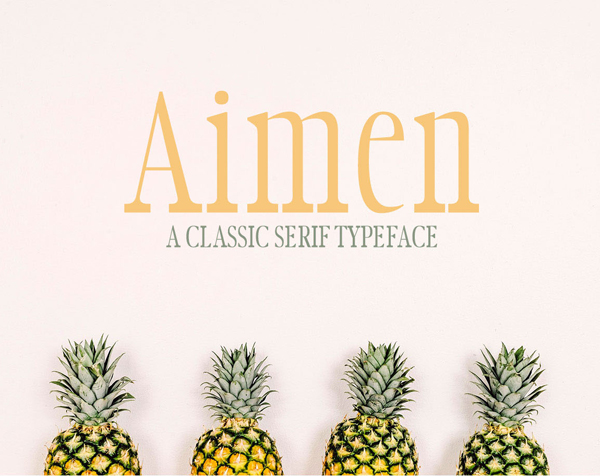 Aimen Classic Serif Typeface Free Font