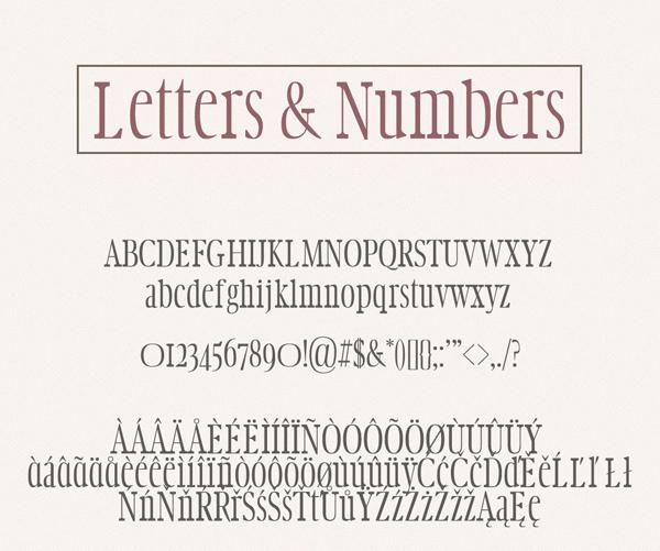 Aimen Classic Serif Typeface Font Letters