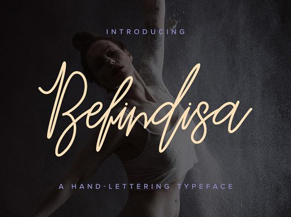 Befindisa Script Free Font