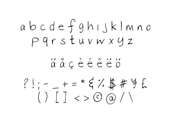 Bella Font Letters