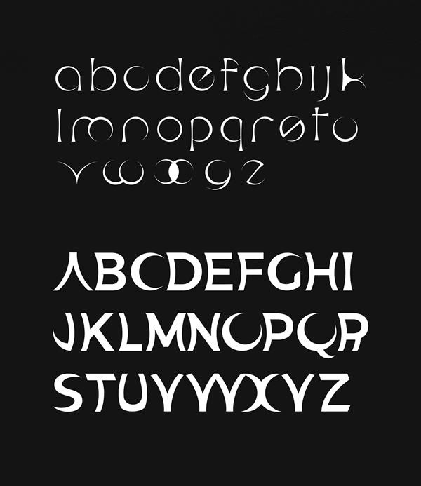 Eclisse Font Letters