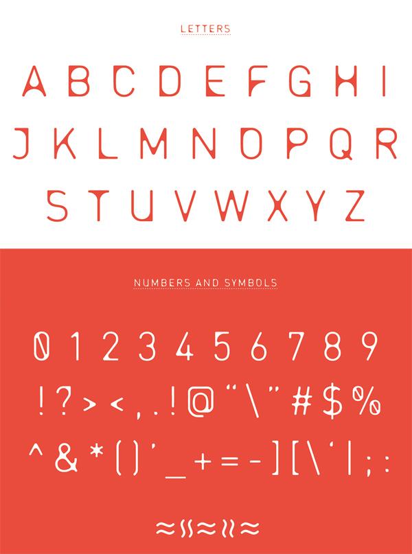 Entra Font Letters