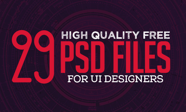 29 New Free Photoshop PSD Files for UI Designers