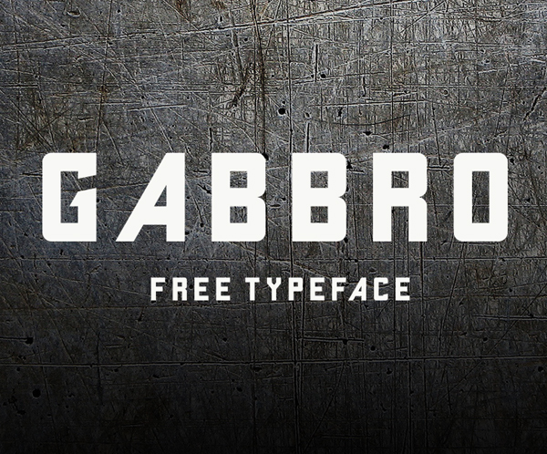 Gabbro Free Font