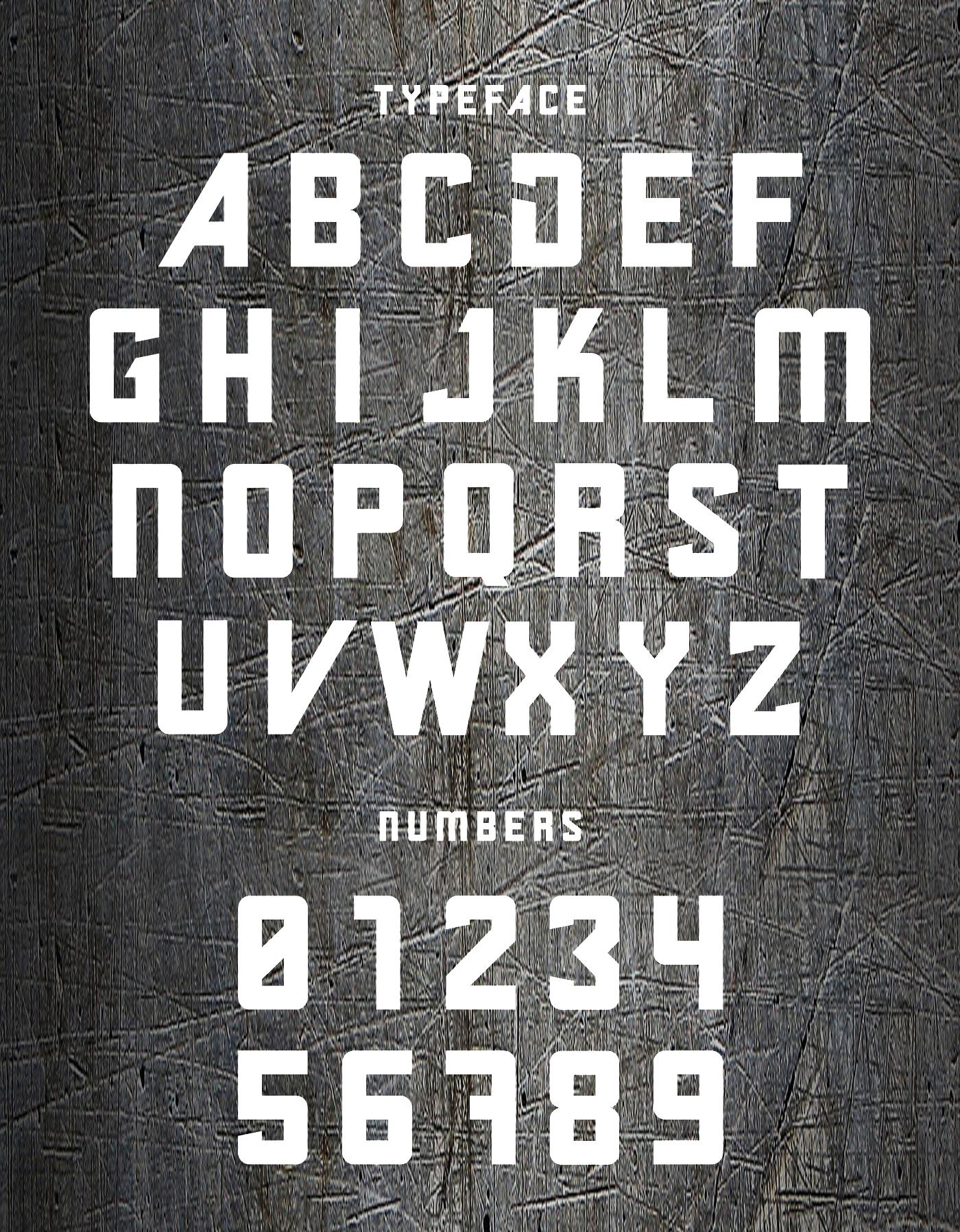 Gabbro Font Letters