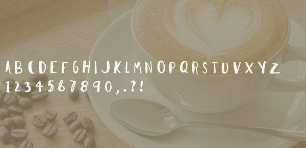 I Need Coffee Font Letters