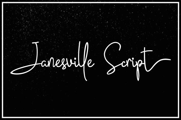 Janesville Script Free Font