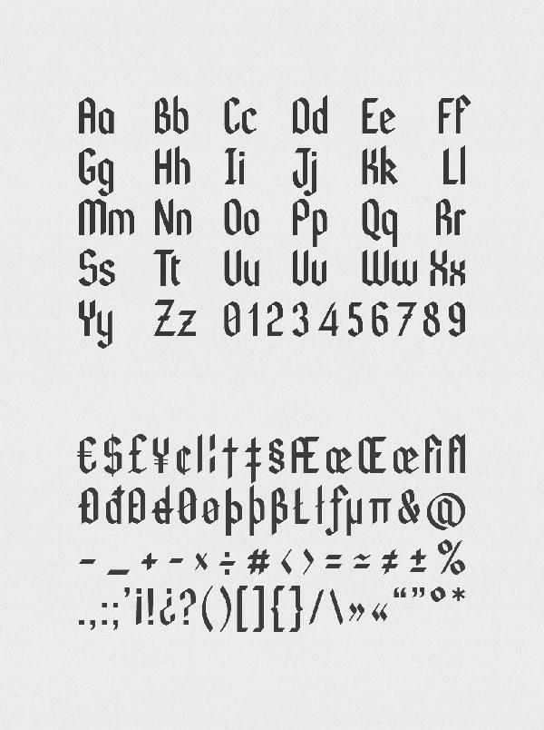 Kodex Font Letters