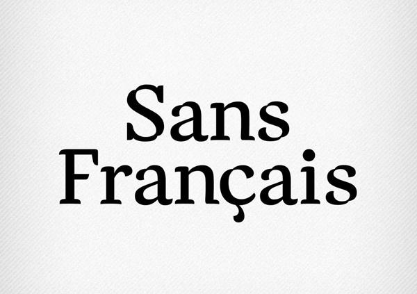 Sans Francais Free Font