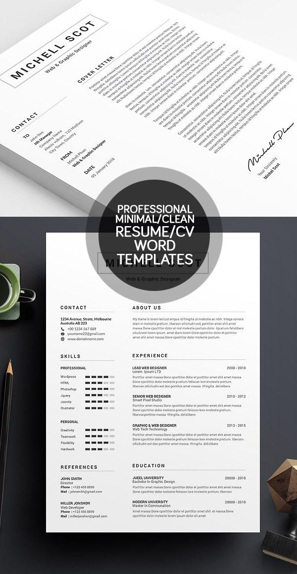 50 Best Minimal Resume Templates - 1