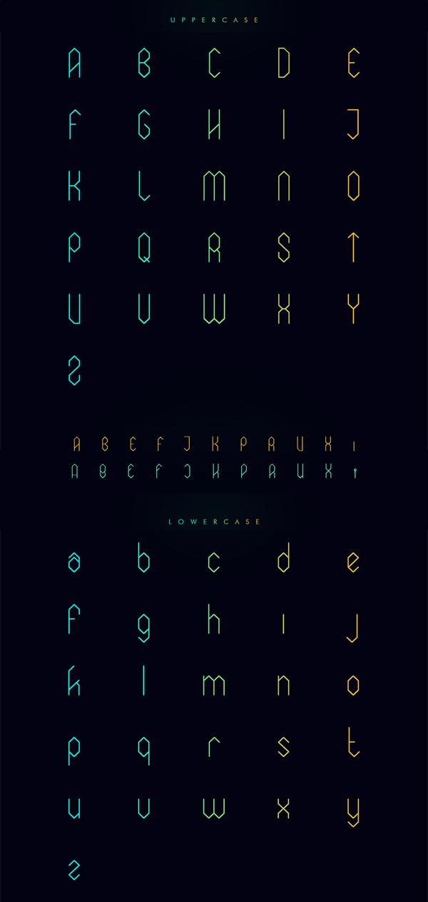 Elixia Free Font Letters