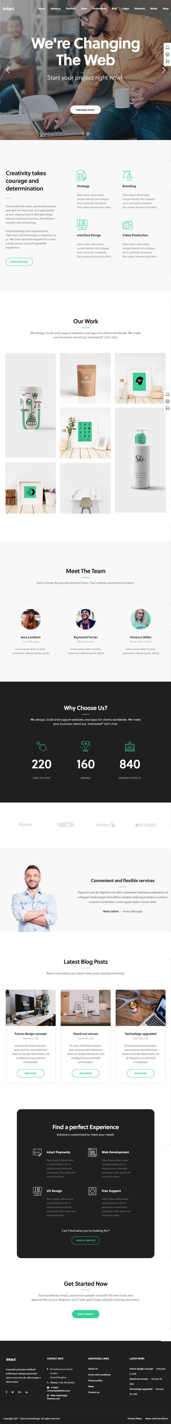 Intact : Premium Multi-Purpose WordPress Theme