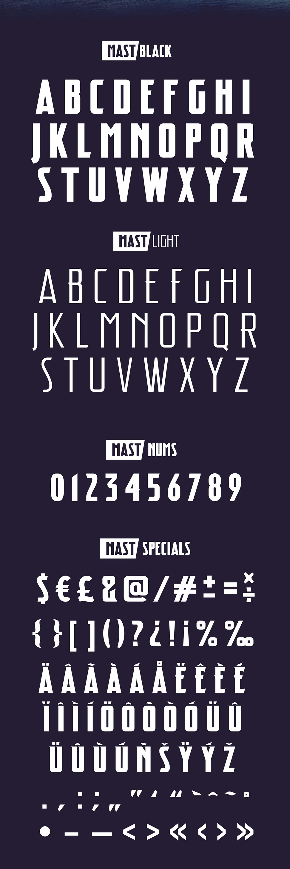 Mast Free Font Letters
