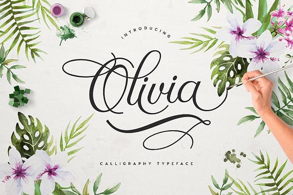 Olivia Free Brush Font
