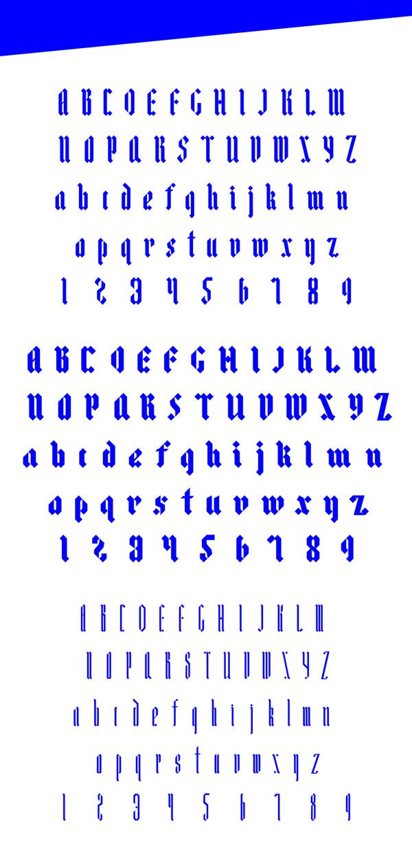 Ostkreuz Free Font Letters