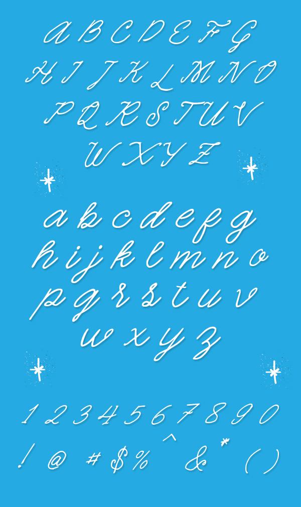 Quickline Free Font Letters