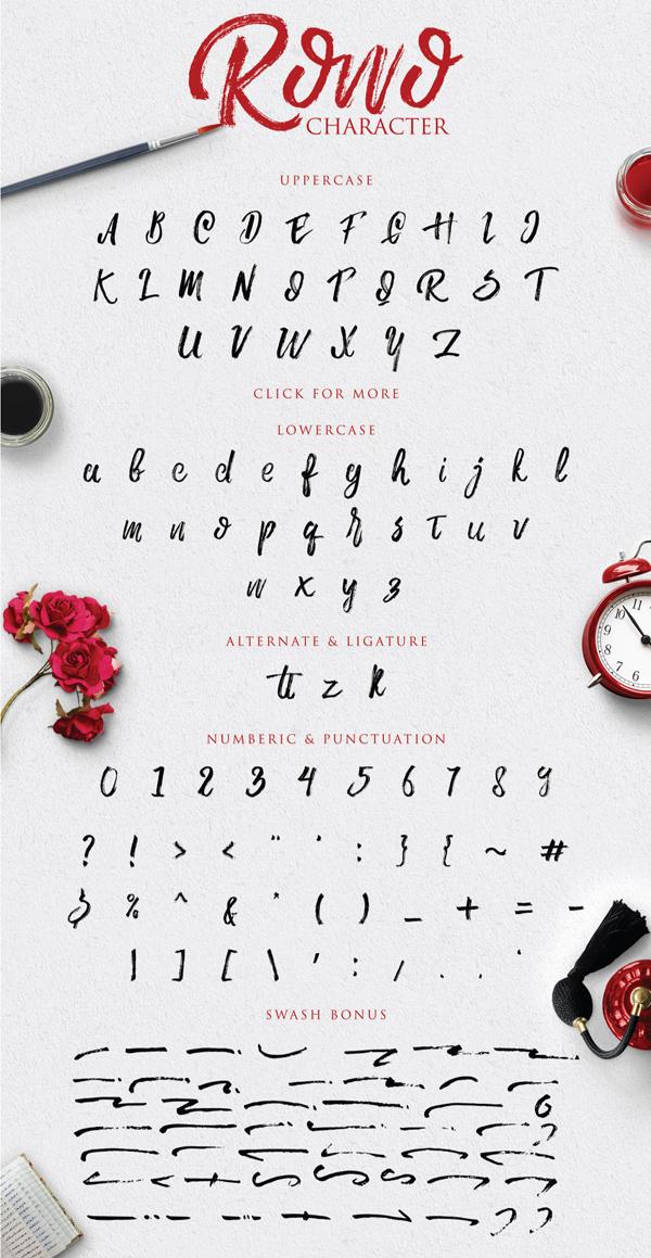 Rowo Free Brush Font