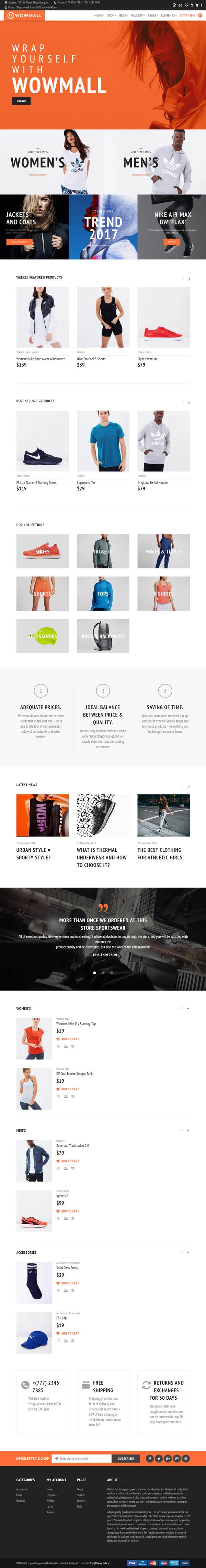 WOWmall : fastest WordPress WooCommerce theme