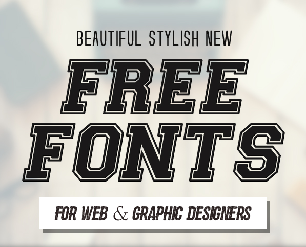 New Free Fonts – 21 Fonts For Designers