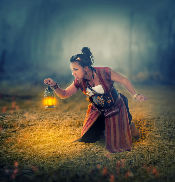 How to Create Amazing Light Effect and Touching Manipulation in Photoshop Tutorial