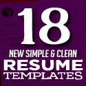 Post thumbnail of 18 New Clean CV / Resume Templates with Cover Letter