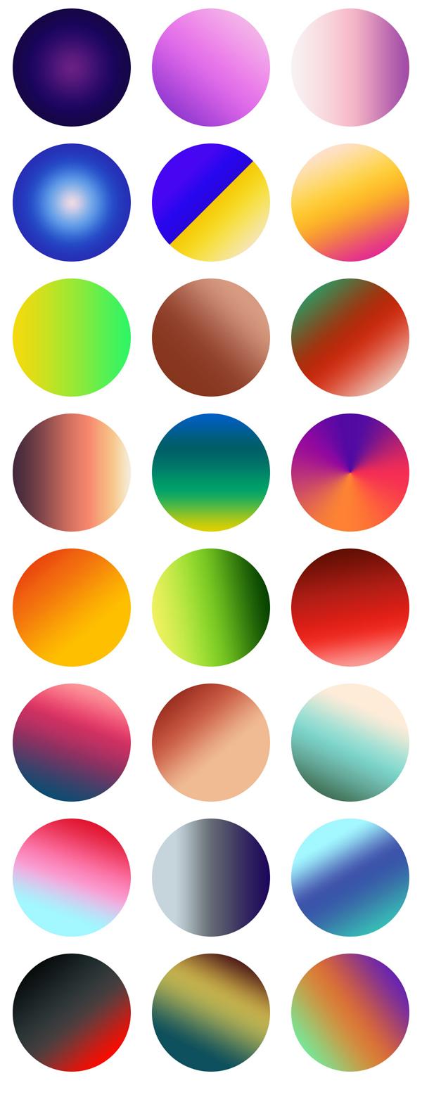 Free Vibrant Gradients For Photoshop