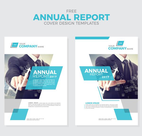 Free Annual Report Cover Design Templates