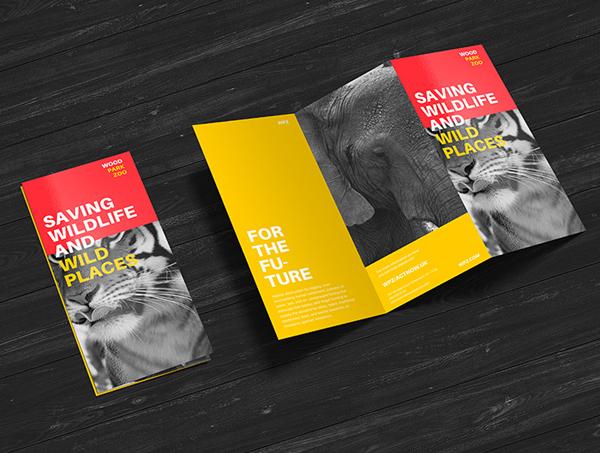 Free Premium Z-Fold Brochure Mockup PSD