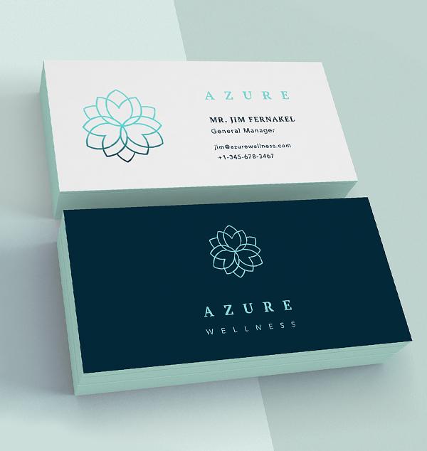 Branding: Azure - Business Card