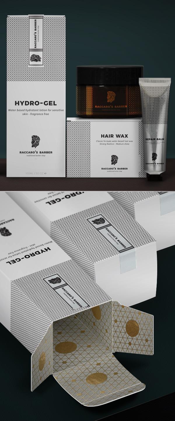 Branding:  Raccaro's Barber - Packaging Design