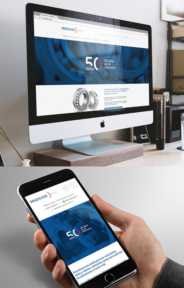 Branding: MIGNANI S.R.L. - Website Design