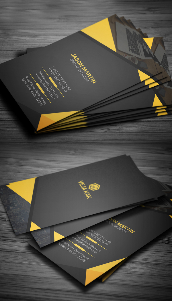 Vertical Corporate Business Card