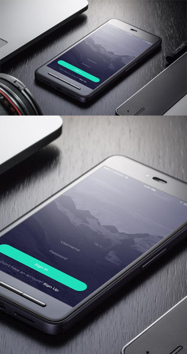 Free Smartphone Mockup PSD Template