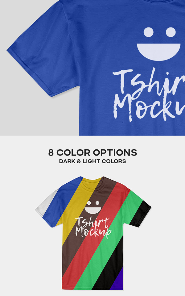 Free Photorealistic Cotton T-shirt Mockup PSD Template