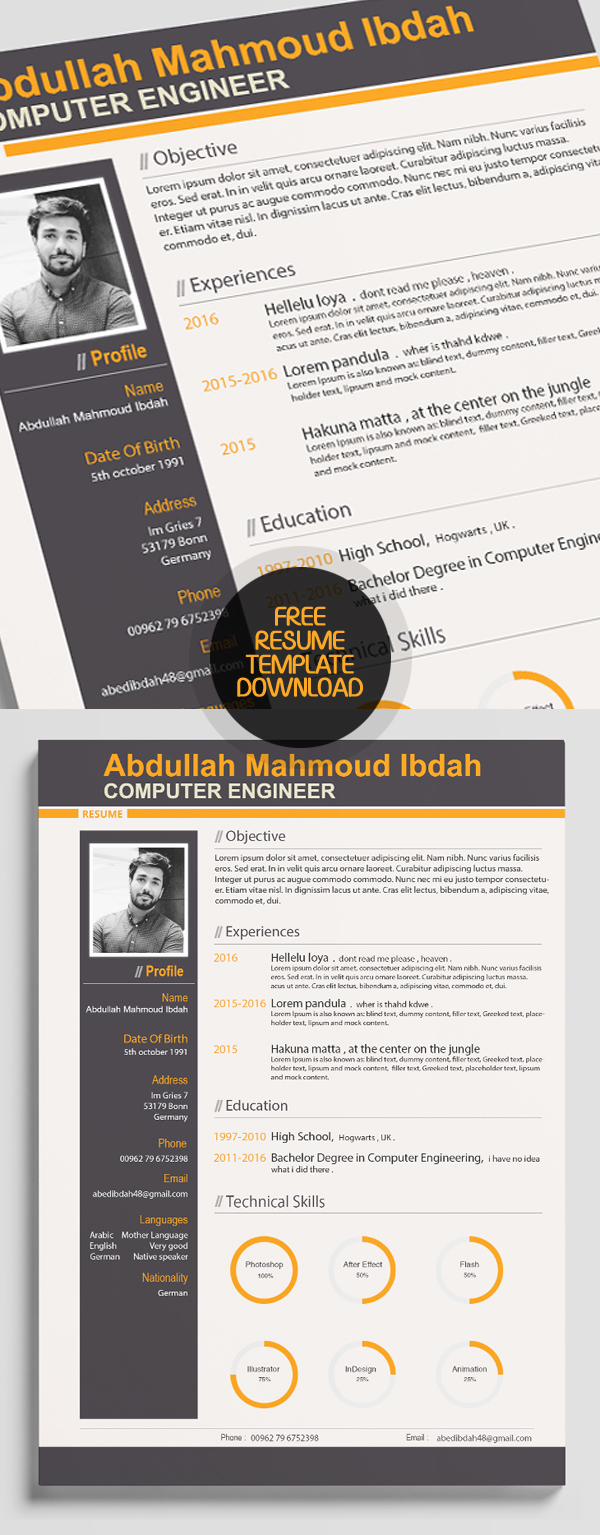 50 Free Resume Templates: Best Of 2018 -  14