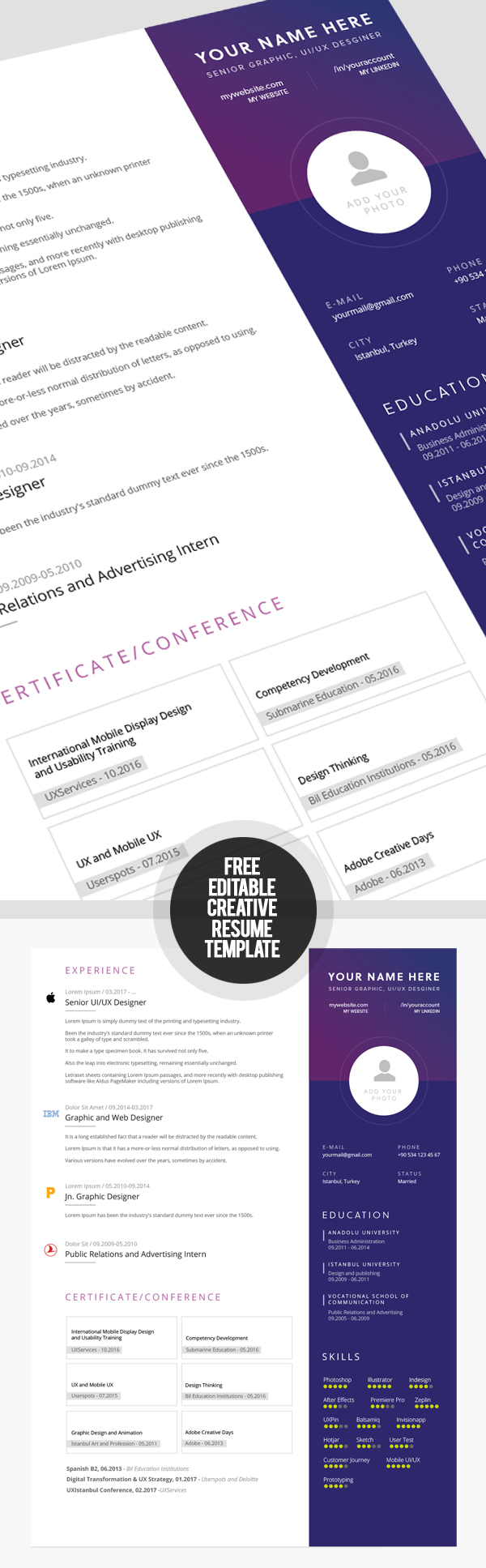 50 Free Resume Templates: Best Of 2018 -  19