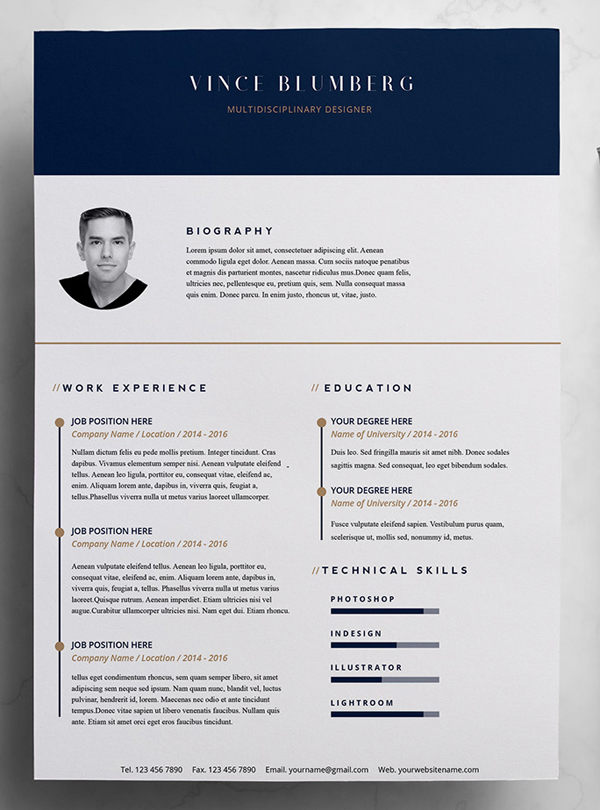 50 Free Resume Templates: Best Of 2018 -  11
