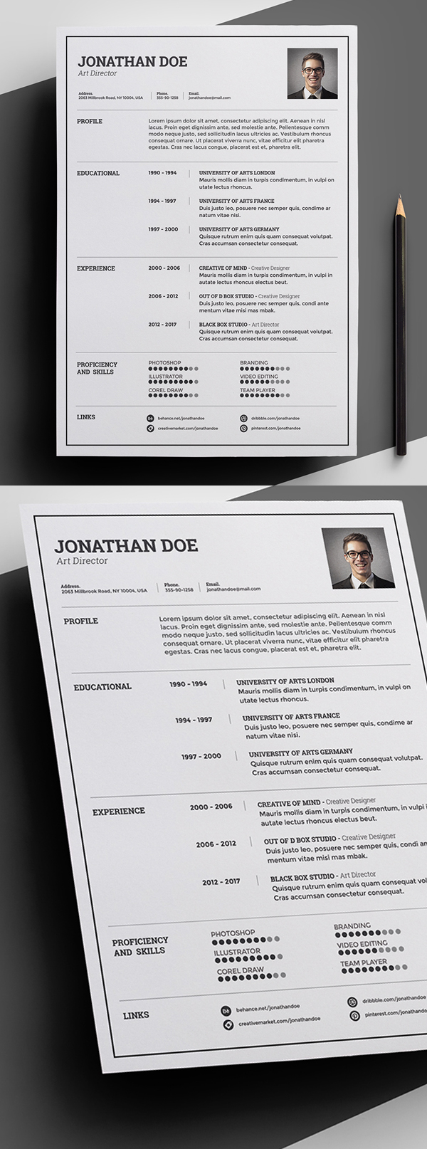 50 Free Resume Templates: Best Of 2018 -  12