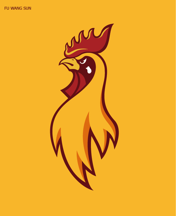 50 Creative Rooster Logo Designs for Inspiration - 36
