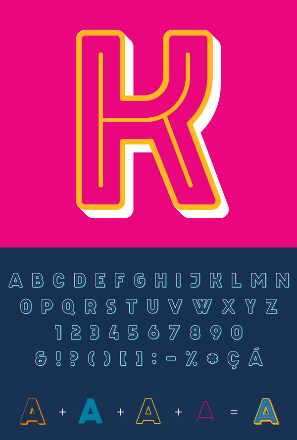 Celebration Free Font Letters