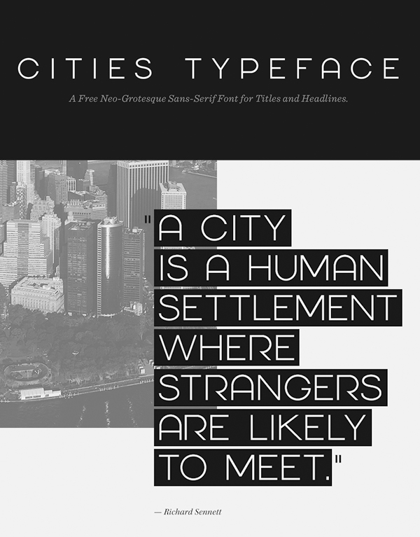 Cities Free Font
