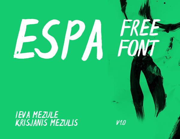 Espa Brush Free Font