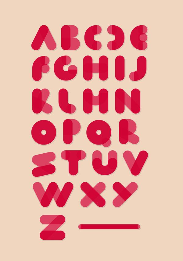 Fluf Font Letters