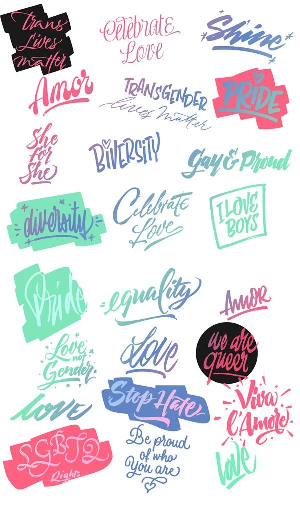 Love Wins Font Letters
